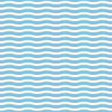 Wektorowy bezszwowy morze macha na bławym tle, stosownym dla drukować na różnorodność tekstylnej produkci i powierzchniach Ilustracja Wektor