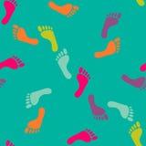 Wektorowy bezszwowy nagi odcisku stopy wzór Ilustracja Wektor