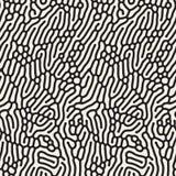 Wektorowy Bezszwowy Organicznie Zaokrąglony Kreskowy labiryntu korala wzór royalty ilustracja