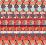 Wektorowy Bezszwowy Plemienny multicolor wzór geometryczny tło Obraz Stock