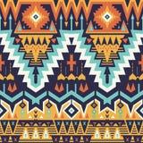 Wektorowy bezszwowy plemienny wzór Zdjęcia Royalty Free