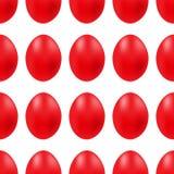 Wektorowy bezszwowy prosty wzór z czerwonym Easter jajkiem na białym tle ilustracji