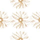 Wektorowy bezszwowy rocznika wzór z ślicznym kwiatem ilustracji