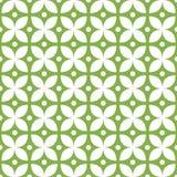 Wektorowy bezszwowy rocznika wzór, zielony geometryczny projekt abstraktów kwiaty royalty ilustracja