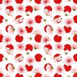 Wektorowy bezszwowy Sakura wzór Royalty Ilustracja