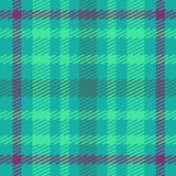 Wektorowy bezszwowy szkocki tartanu wzór w błękicie, zieleni, turkusie i fiołku, Royalty Ilustracja
