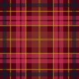 Wektorowy bezszwowy szkocki tartanu wzór w czarnym, czerwony, kolor żółty Ilustracja Wektor