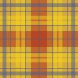 Wektorowy bezszwowy szkocki tartanu wzór w kolorze żółtym, czerwień, purpura Ilustracja Wektor