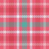 Wektorowy bezszwowy szkocki tartanu wzór w menchiach, błękicie, turkusie i bielu, Ilustracji