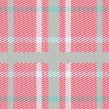 Wektorowy bezszwowy szkocki tartanu wzór w menchiach, błękicie, turkusie i bielu, Royalty Ilustracja