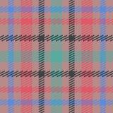 Wektorowy bezszwowy szkocki tartanu wzór w menchiach, błękit, turkus, czerń, beż Brytyjski lub irlandzki celta projekt dla tkanin Ilustracji