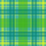 Wektorowy bezszwowy szkocki tartanu wzór w zieleni, błękit, turkus, kolor żółty Brytyjski lub irlandzki celta projekt dla tkaniny Royalty Ilustracja