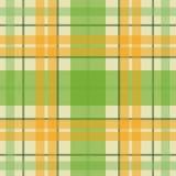 Wektorowy bezszwowy szkocki tartanu wzór w zieleni, pomarańcze, beż Ilustracji