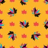 Wektorowy bezszwowy tło jesienni liście Zdjęcia Royalty Free