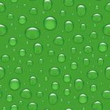 Wektorowy bezszwowy tło - woda opuszcza na zieleni ilustracji