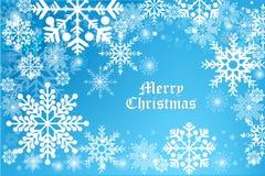Wektorowy bezszwowy tło błękitny koloru płatek śniegu - ilustracja eps10 Zdjęcie Royalty Free