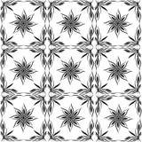 Wektorowy bezszwowy wzór, abstrakcjonistyczny kwiat, płytki Obraz Royalty Free