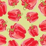 Wektorowy bezszwowy wzór czerwoni pieprze ilustracja wektor