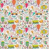 Wektorowy bezszwowy wzór, dziecięcy doodles Wzór, set diffe Zdjęcie Royalty Free