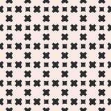 Wektorowy bezszwowy wzór, geometryczna tekstura z gładkimi krzyżami ilustracji