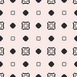 Wektorowy bezszwowy wzór, geometryczna tekstura z kwadratami i okręgi, ilustracja wektor