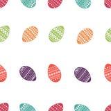 Wektorowy bezszwowy wzór kolorowi i ozdobni Easter jajka Świeży i wiosna projekt dla kartka z pozdrowieniami, tkanina, broszura,  Ilustracji