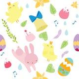 Wektorowy bezszwowy wzór na Wielkanocnym temacie ilustracji