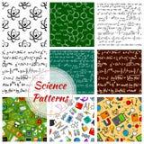 Wektorowy bezszwowy wzór nauka i wiedza ilustracja wektor