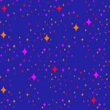 Wektorowy bezszwowy wzór, nocy gwiazdowy tło Obrazy Stock