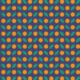 Wektorowy bezszwowy wzór pomarańczowa owoc Obraz Royalty Free