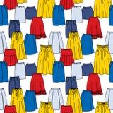 Wektorowy bezszwowy wzór ręka rysująca moda Obraz Stock