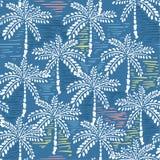 Wektorowy bezszwowy wzór ręka rysunkowy las dla lato zwrotnika Fotografia Royalty Free