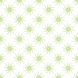 Wektorowy bezszwowy wzór stylizowane zielone rośliny na białym tle Obraz Royalty Free