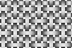 Wektorowy bezszwowy wzór tkani zespoły Stipple tekstura ilustracji