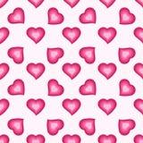 Wektorowy bezszwowy wzór z ślicznymi różowymi sercami Obraz Stock