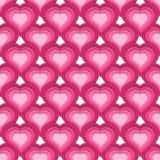 Wektorowy bezszwowy wzór z ślicznymi różowymi sercami Zdjęcie Stock