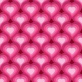 Wektorowy bezszwowy wzór z ślicznymi różowymi sercami Fotografia Stock