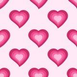Wektorowy bezszwowy wzór z ślicznymi różowymi sercami Zdjęcia Stock