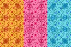 Wektorowy bezszwowy wzór z światłem obciosuje i wykłada Retro abstrakcjonistyczny geometryczny ornament dla tkaniny, druki, tapet royalty ilustracja