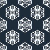 Wektorowy bezszwowy wzór z abstrakcjonistycznymi płatkami śniegu Zdjęcie Stock