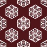 Wektorowy bezszwowy wzór z abstrakcjonistycznymi płatkami śniegu Zdjęcie Royalty Free