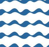 Wektorowy bezszwowy wzór z abstrakt textured fala Krzywa kształty z ręka rysującymi elementami ilustracji