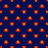Wektorowy bezszwowy wzór z ładnymi abstrakcjonistycznymi sercami Fotografia Royalty Free