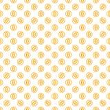 Wektorowy bezszwowy wzór z bitcoins Zdjęcia Royalty Free
