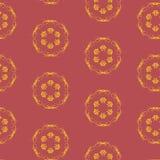 Wektorowy bezszwowy wzór z Burgundy kolorem Obrazy Stock
