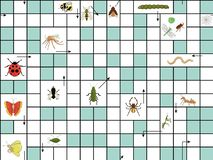 Wektorowy bezszwowy wzór z crossword łamigłówką ilustracji