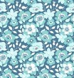 Wektorowy bezszwowy wzór z dzikimi różami, rocznika styl Ręka Rysujący tkanina projekt Zdjęcia Royalty Free