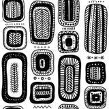 Wektorowy bezszwowy wzór z etnicznymi plemiennymi stylowymi czworobokami Fotografia Stock