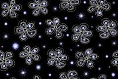 Wektorowy bezszwowy wzór z fantazi zimy kwiatami royalty ilustracja