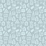 Wektorowy bezszwowy wzór z finansowymi ikonami Obrazy Royalty Free